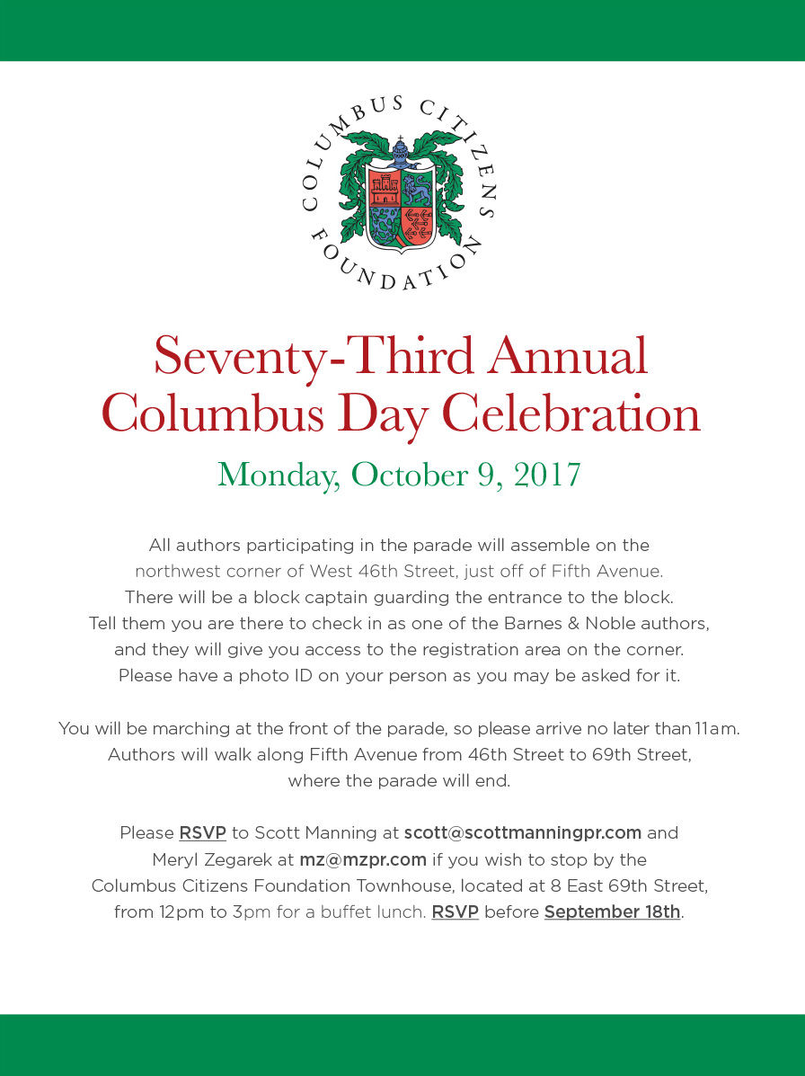 columbus day parade information